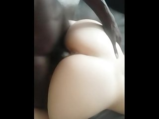 White bubble butt milf loves BBC.