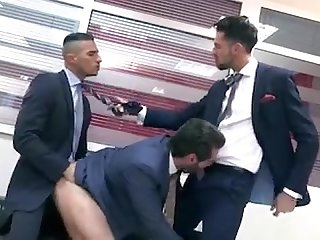 Hot threesome guys fucking in the office//TW: @iadriiel