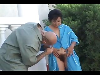 Hairy Russian Mature Maid Fucked